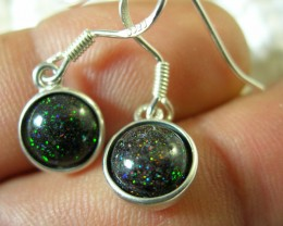 "925 SILVER EARRINGS ""FAIRY' OPAL MATRIX LMJ /74"