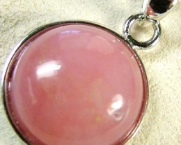 PINK OPAL SILVER  PENDANT-NATURAL -CAB 8.90 CTS [SJ612]