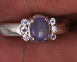 9.5 SIZE  SOLID OPAL AND 6 TANZANITES -FACTORY  [SJ3185 ]