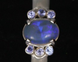 9 SIZE  SOLID OPAL AND 6 TANZANITES -FACTORY [SJ3186 ]