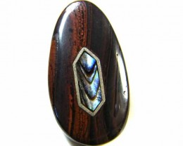 MOTHER PEARL INLAID  IRONSTONE BEAD 27.3 CTS AG1945