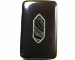 MOTHER PEARL INLAID  IRONSTONE BEAD 37.75 CTS AG1949