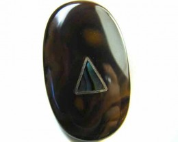 MOTHER PEARL INLAID  IRONSTONE BEAD 39.7  CTS AG1953