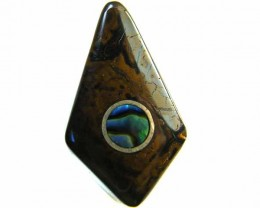 MOTHER PEARL INLAID  IRONSTONE BEAD 19.45CTS AG1965