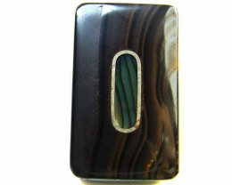 MOTHER PEARL INLAID  IRONSTONE BEAD 39.05CTS AG1968