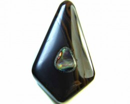 MOTHER PEARL INLAID  IRONSTONE BEAD 35.45 CTS AG1977