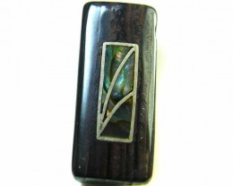 MOTHER PEARL INLAID  IRONSTONE BEAD 18.8CTS AG1982