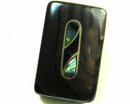 MOTHER PEARL INLAID  IRONSTONE BEAD 27.95 CTS AG1985