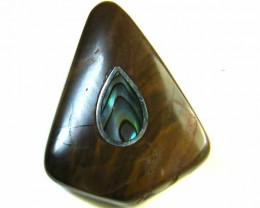 MOTHER PEARL INLAID  IRONSTONE BEAD 42.15  CTS AG2001