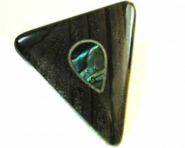 MOTHER PEARL INLAID  IRONSTONE BEAD 28.15 CTS AG2007