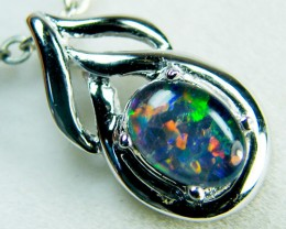 OPAL TRIPLET  SET IN 14 K GOLD PENDANT    MY 315