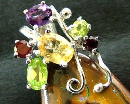 YOWAH  PENDANT WITH  6 NATURAL STONES 55.20 CTS [GT 1473 ]