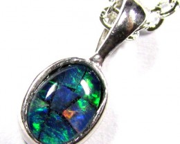 FIRERY MOSAIC TRIPLET SILVER PENDANT 0.60 CTS MYG 1255