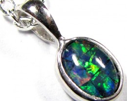 FIRERY MOSAIC TRIPLET SILVER PENDANT 0.60 CTS MYG 1257