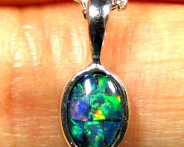 FIRERY MOSAIC TRIPLET SILVER PENDANT 0.60 CTS MYG 1261