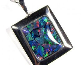MOSAIC TRIPLET SILVER PENDANT 0.90 CTS MYG 1267