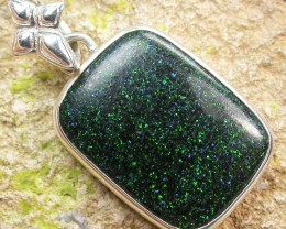FAIRY OPAL SILVER PENDANT -FACTORY DIRECT 22.00 CTS [SJ1587]