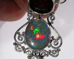 OPAL [STABILIZED] WITH OTHER GEMSTONES PENDANT[SOJJ15]