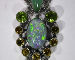 OPAL [STABILIZED] WITH OTHER GEMSTONES PENDANT[SOJJ13]