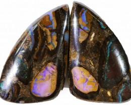 64.95 Cts   Pair Yowah opal s  BU 2104