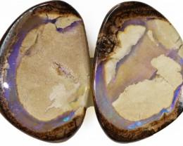 83.95 Cts   Pair Yowah opal s  BU 2107