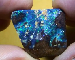20.15 ct Gem Blue Green Color Color Queensland Boulder Opal