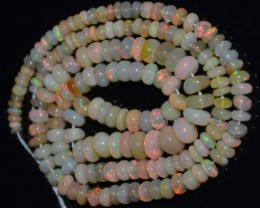 28.25 Ct Natural Ethiopian Welo Opal Beads Play Of Color