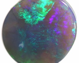 BLACK OPAL LIGHTNING RIDGE 2.95 CTS FIREY GREEN STONE A4147
