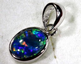TRIPLET OPAL SILVER PENDANT 4.10 CTS OF-1431