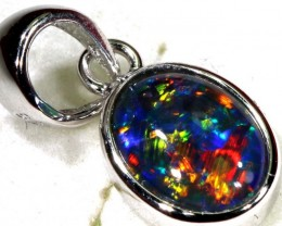 TRIPLET OPAL SILVER PENDANT 4.10 CTS OF-1432