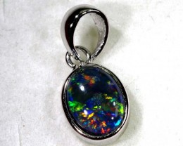 TRIPLET OPAL SILVER PENDANT 4.10 CTS OF-1433
