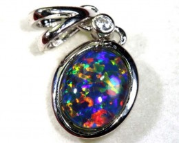 TRIPLET OPAL SILVER PENDANT 4.10 CTS OF- 1436