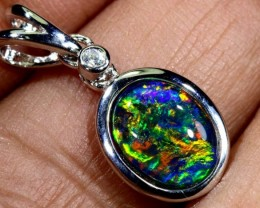 TRIPLET OPAL SILVER PENDANT 4.10 CTS OF-1438