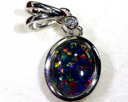 TRIPLET OPAL SILVER PENDANT 4.10 CTS OF-1442