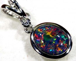 TRIPLET OPAL SILVER PENDANT 4.10 CTS OF-1445
