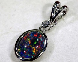 TRIPLET OPAL SILVER PENDANT 4.10 CTS OF-1446