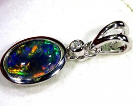 TRIPLET OPAL SILVER PENDANT 4.10 CTS OF-1449