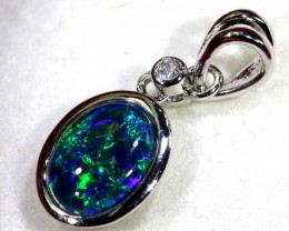 TRIPLET OPAL SILVER PENDANT 4.10 CTS OF-1450
