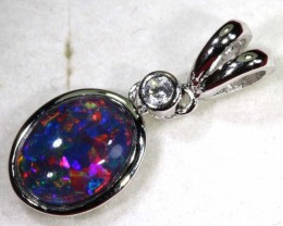 TRIPLET OPAL SILVER PENDANT 4.10 CTS OF-1453