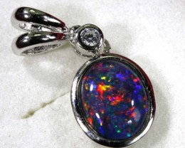 TRIPLET OPAL SILVER PENDANT 4.10 CTS OF-1454