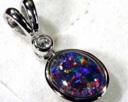 TRIPLET OPAL SILVER PENDANT 4.10 CTS OF-1456