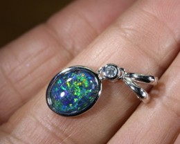 TRIPLET OPAL SILVER PENDANT 4.10 CTS OF-1458