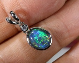 TRIPLET OPAL SILVER PENDANT 4.10 CTS OF-1459