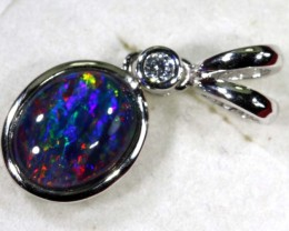 TRIPLET OPAL SILVER PENDANT 4.10 CTS OF-1461