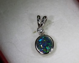 TRIPLET OPAL SILVER PENDANT 4.10 CTS OF-1462