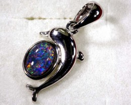 TRIPLET OPAL SILVER PENDANT 4.10 CTS OF-1467