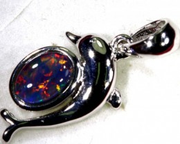 TRIPLET OPAL SILVER PENDANT 4.10 CTS OF-1469