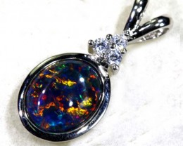 TRIPLET OPAL SILVER PENDANT 4.10 CTS OF-1472