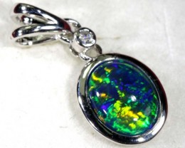 TRIPLET OPAL SILVER PENDANT 4.10 CTS OF-1476