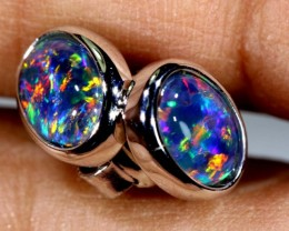 TRIPLET OPAL EARINGS 7.65 CTS OF-1485